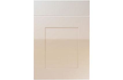 Unique Johnson High Gloss Cashmere kitchen door