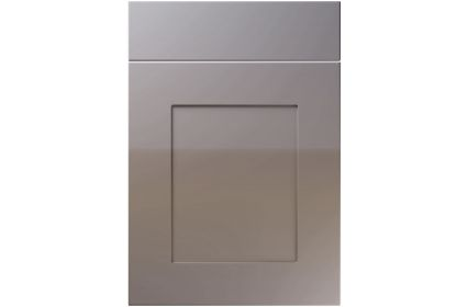 Unique Johnson High Gloss Dust Grey kitchen door