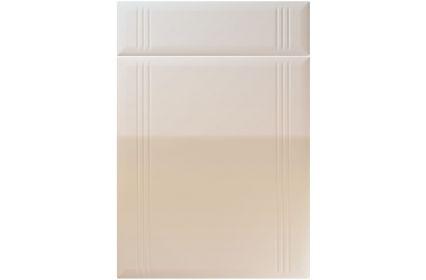Unique Linea High Gloss Cashmere kitchen door