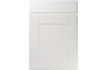 Unique New England Super White Ash kitchen door
