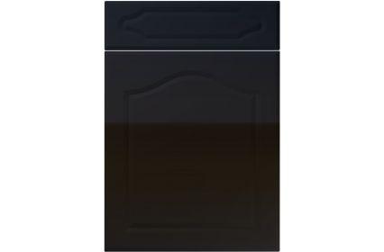 Unique New Sudbury High Gloss Black kitchen door