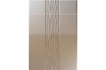 Unique Sahara High Gloss Stone Grey kitchen door