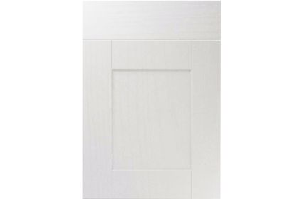 Unique Shaker Super White Ash kitchen door