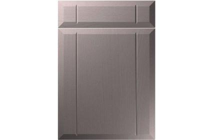 Unique Twinline Painted Oak Dust Grey kitchen door