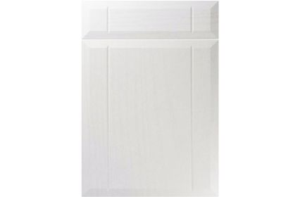 Unique Twinline Super White Ash kitchen door