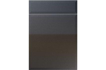 Unique Verona High Gloss Anthracite Sparkle kitchen door