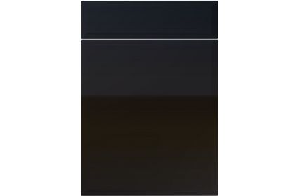 Unique Verona High Gloss Black kitchen door