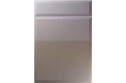 Unique Verona High Gloss Dust Grey kitchen door