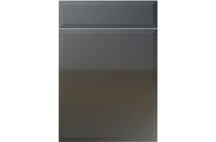 Unique Verona High Gloss Graphite kitchen door