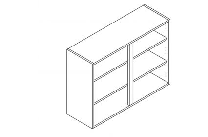 1000 Wall Unit 900 High - ClicBox