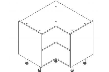 928 Corner Base Unit - ClicBox