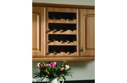 Bella Plain Wine Rack Front 4 Bottles