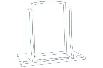 Unique Free Standing Swivel Mirror (No wings)