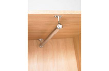 Bedroom Storage Round Hanging Rails