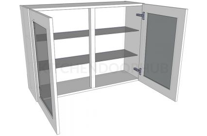 Glazed Double Kitchen Wall Unit - Tall (900mm high)