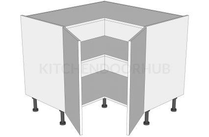 Corner Kitchen Base Unit 'L' Shape - 2 Separate Doors