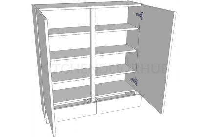 1065mm High Solid Door Dresser - Double