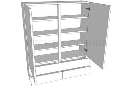 1210mm High Solid Door Dresser - Double