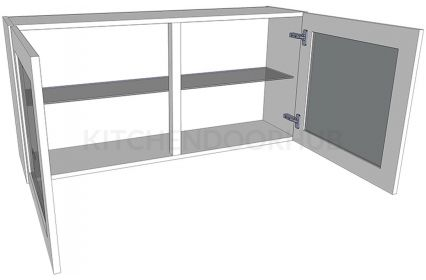 Glazed Double Kitchen Wall Unit -Low (575mm high)