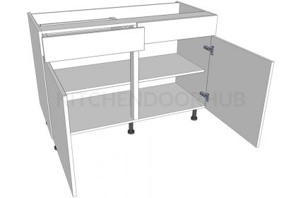 Sink Kitchen Base Units - Double - Working Drawer