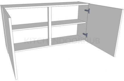 Low (575mm high) Double Kitchen Wall Unit