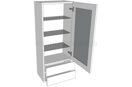 1210mm High Glazed Dresser Unit
