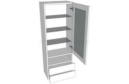 1390mm High Glazed Dresser Unit - A
