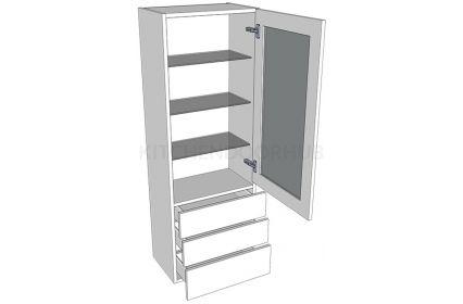 1390mm High Glazed Dresser Unit - B