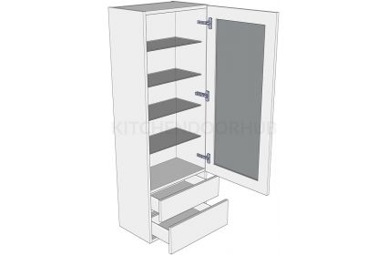 1390mm High Glazed Dresser Unit - C