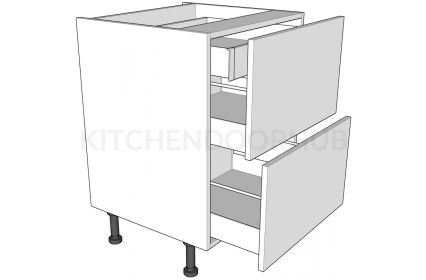 2 Drawer Base Unit with Internal Cutlery Drawer