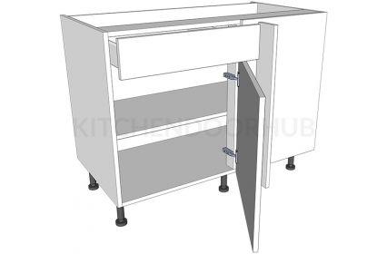 Variable Corner Kitchen Base Unit - Working Drawer