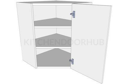 Diagonal Corner Kitchen Wall Unit - Medium