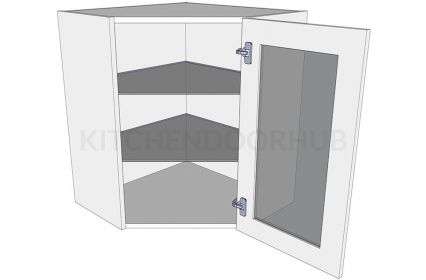 Glazed Diagonal Corner Kitchen Wall Units