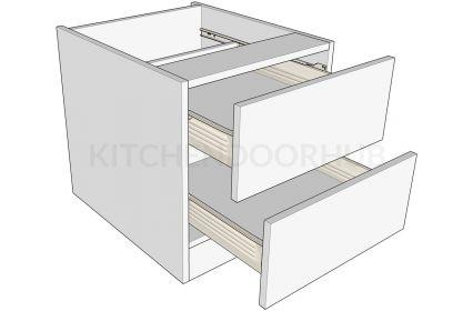 Bedside Cabinets 2 Drawer - Low