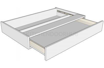 Knee Hole Bedroom Drawer Unit 120mm High