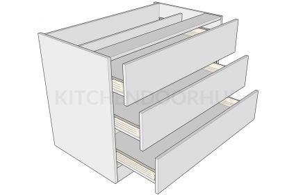 Standard Height 3 Drawer Bedroom Units