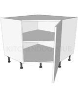 Corner Kitchen Base Units Diagonal