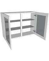 Glazed Double Kitchen Wall Unit - Medium (720 high)