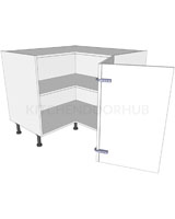 Corner Kitchen Base Unit 'L' Shape - Bi-fold