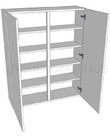 1210mm High Double Kitchen Dresser Unit