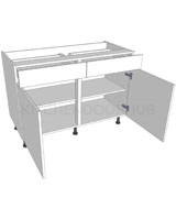 Drawerline Kitchen Base Unit - Double