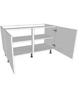 Low Level Kitchen Base Unit - Double