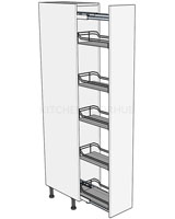 Low Storage Pull Out Larder 1825h