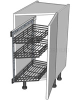 Angled Kitchen Base Storage Units - Highline