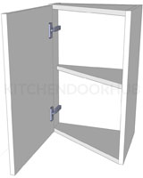 Angled Kitchen Wall Unit - Low (575mm high)