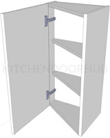 Angled Kitchen Wall Unit - Medium (720mm)