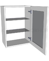 Glazed Single Kitchen Wall Unit - Medium (720 high)