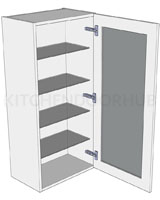 1065mm High Glazed Dresser Unit - No drawer