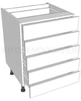 5 Drawer Base Unit