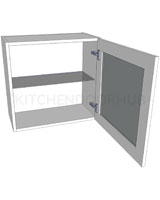 Glazed Single Kitchen Wall Unit - Low (575mm high)
